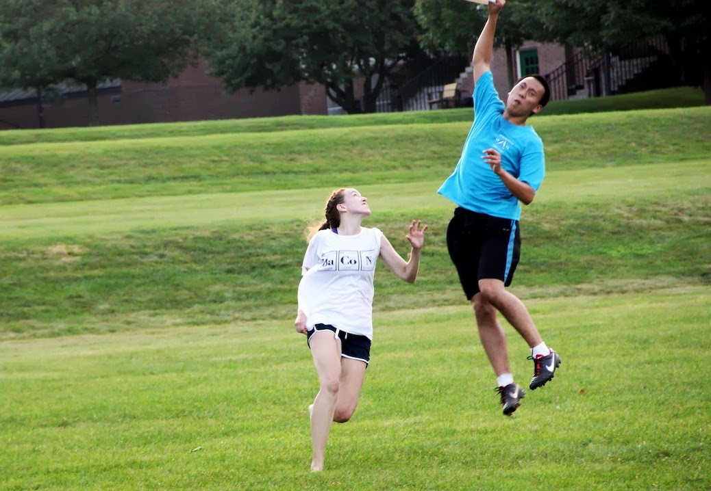 Photo of a frisbee game