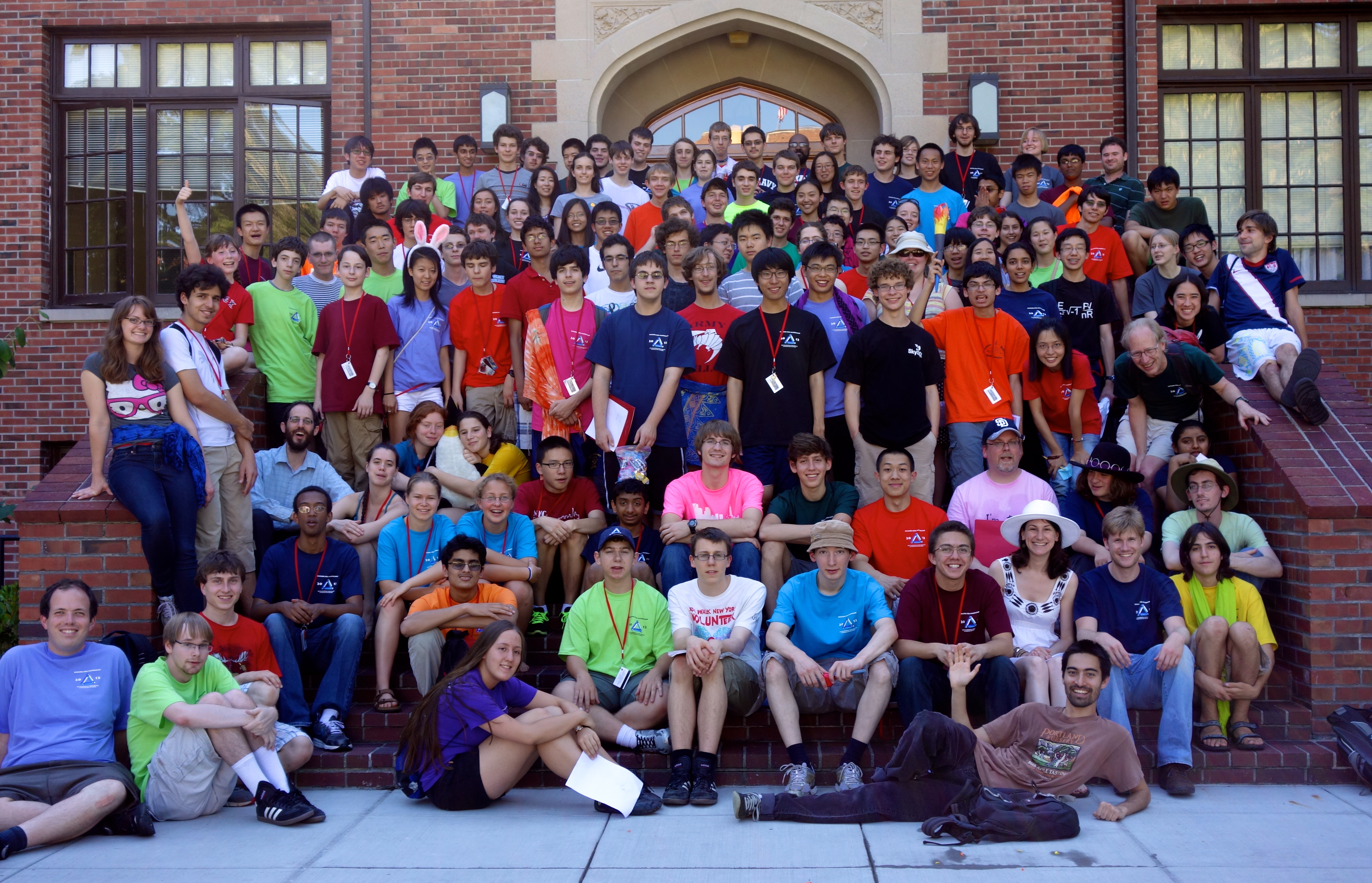 Photo of Mathcamp 2012 at the University of Puget Sound